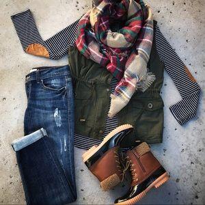 Jackets & Blazers - New! Olive Anorak Cargo Vest